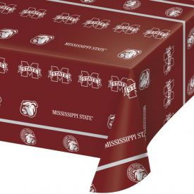 Mississippi State Univ Table Cover, Plastic 54