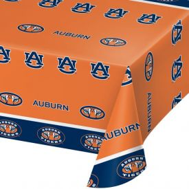 Auburn University Table Covers Plastic 54