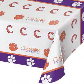 Clemson Univ Table Cover, Plastic 54