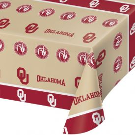 University of Oklahoma Table Cover, Plastic 54