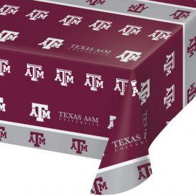 Texas A & M Univ Table Cover Plastic 54