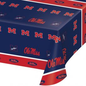 University of Mississippi Table Cover, Plastic 54
