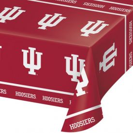 Indiana University Table Cover Plastic 54