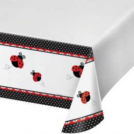 Ladybug Fancy Table Cover, Plastic 54