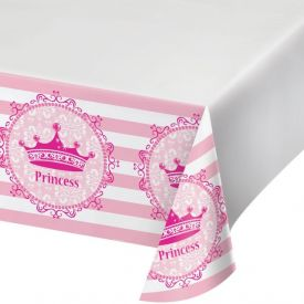 Pink Princess Royalty Table Cover, Plastic 48