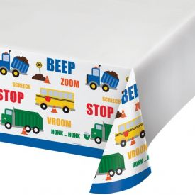 Traffic Jam Table Cover Plastic 48