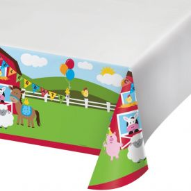 Farmhouse Fun Table Cover, Plastic 54