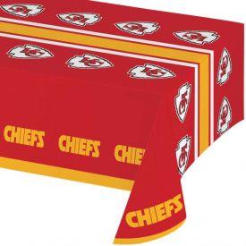 NFL Kansas City Chiefs Plastic Table Cover 54