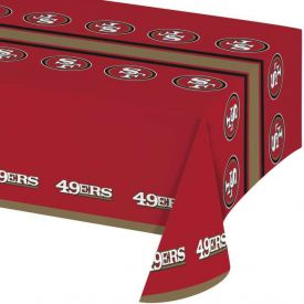 NFL San Francisco 49ers Plastic Table Cover 54