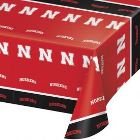 University of Nebraska Table Cover, Plastic 54