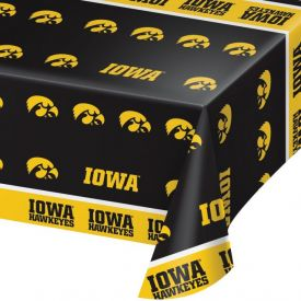 University of Iowa Table Cover Plastic 54