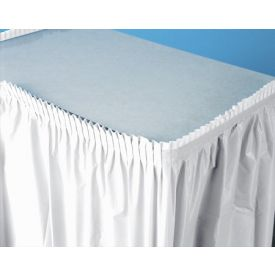White Table Skirt Plastic 21.5'