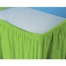 Fresh Lime Table Skirt Plastic 14'