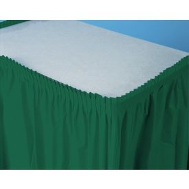 Hunter Green Table Skirt Plastic 14'