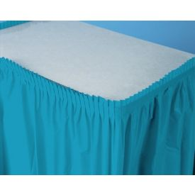 Turquoise Table Skirt Plastic 14'
