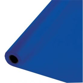 Cobalt Plastic Table Cover Banquet Roll 100'