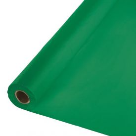 Emerald Green Plastic Table Cover Banquet Roll, 250'
