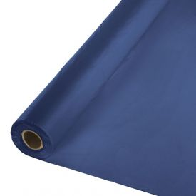 Navy Plastic Table Cover Banquet Roll, 250'