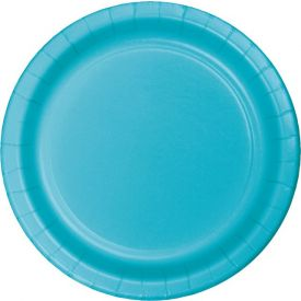 Bermuda Blue Appetizer or Dessert Paper Plates 7