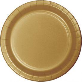 Glittering Gold Appetizer or Dessert Paper Plates 7