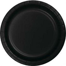 Black Velvet Appetizer, Snack or Dessert Paper Plates 7