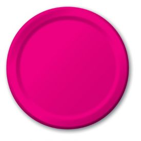 Hot Magenta Appetizer or Dessert Paper Plates 7