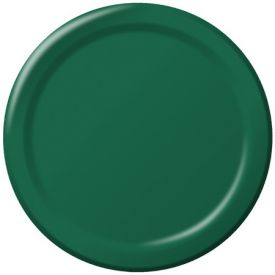 Hunter Green Appetizer of Dessert Paper Plates 7