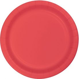 Coral Appetizer or Dessert Paper Plates 7