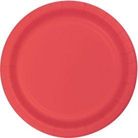 Coral Appetizer or Dessert Paper Plates 7