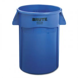 Rubbermaid® Commercial Vented Round Brute Cont., Round, 44 gal, Blue