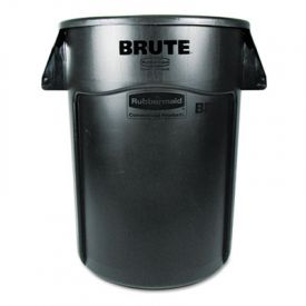 Rubbermaid® Commercial Vented Round Brute Cont., Round, 44 gal, Black