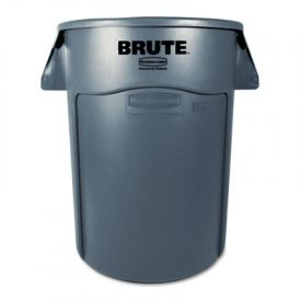 Rubbermaid® Commercial Vented Round Brute Cont., Round, 44 gal, Gray