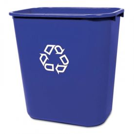 Rubbermaid® Commercial Deskside Recycling Container, 28 1/8qt, Blue