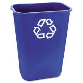 Rubbermaid® Commercial Deskside Recycling Container, 41 1/4 qt, Blue