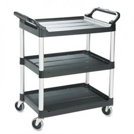Rubbermaid® Commercial 3-Shelf Service Cart, 18-5/8w x 33-5/8d x 37-3/4h