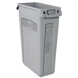 Rubbermaid Commercial Slim Jim  with Venting Channels, 23 gal, Gray