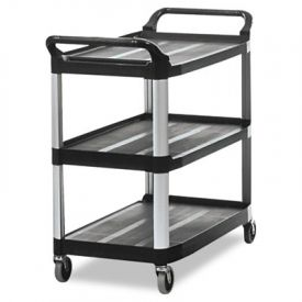 Rubbermaid® Commercial Open Utility Cart, 3-Shelf, 40-5/8w x 20d x 37-13/16h