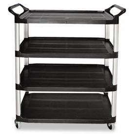 Rubbermaid® Commercial Open Utility Cart, 4-Shelf, 40-5/8w x 20d x 51h