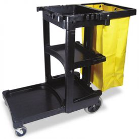 Rubbermaid® Commercial Multi-Shelf Cleaning Cart, 3-Shelf