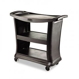 Rubbermaid® Executive Service Cart, 3-Shelf, 20-1/3w x 38-9/10d, Black