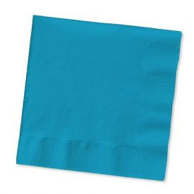 Turquoise Beverage Napkins, 2-Ply