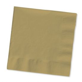 Glittering Gold Beverage Napkins, 2-Ply