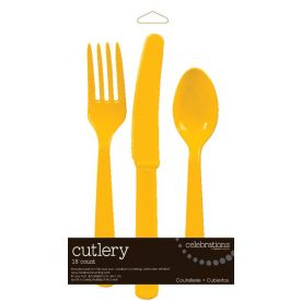 Schoolbus Yellow Cutlery Assortment