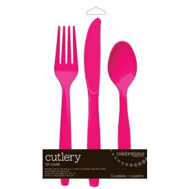 Hot Magenta Cutlery Assortment