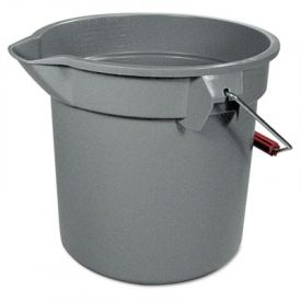 Rubbermaid® Commercial BRUTE Round Utility Pail, Plastic, 12 x 11, Gray