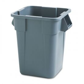 Rubbermaid® Commercial Square Brute Container, 40 gal, Gray
