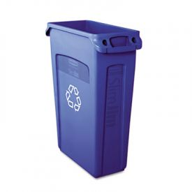 Rubbermaid Commercial Slim Jim  Recycling Container w/ Vent Channels, 23 gal