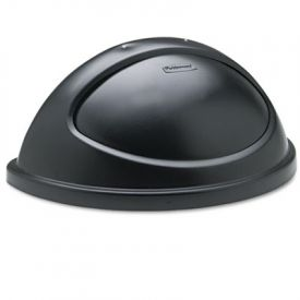 Rubbermaid Commercial Untouchable Half-Round Lid, Black