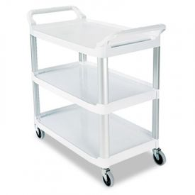 Rubbermaid® Commercial Open Utility Cart, 3-Shelf, 40-5/8w x 20d x 37-13/16h