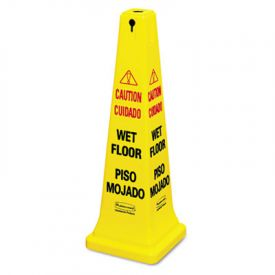 Rubbermaid® Commercial Multilingual Safety Cone, 12-1/4 x 12-1/4 x 36h